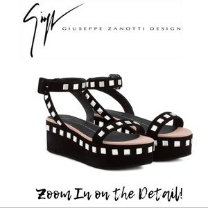 GIUSEPPE ZANOTTI Black Mirror Sandals - NEW
